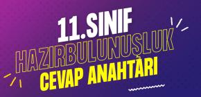 11.SINIF HAZIR BULUNUŞLUK CEVAP ANAHTARI