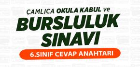 BURSLULUK SINAVI 6.SINIF CEVAP ANAHTARI