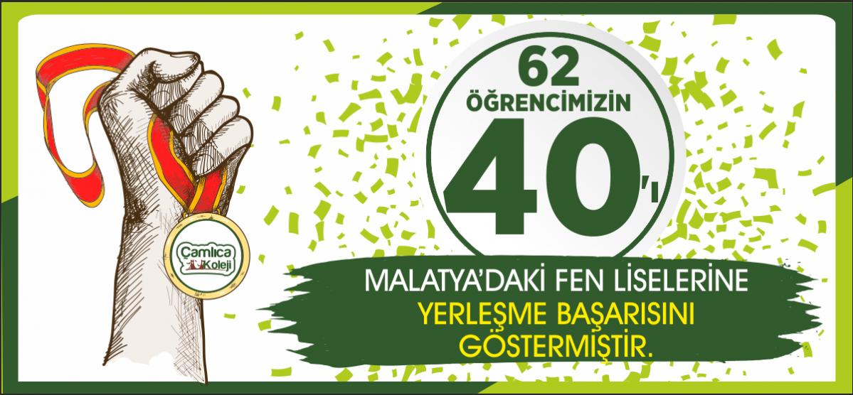 LGS'de 40 ÖĞRENCİMİZ MALATYA'DAKİ FEN LİSELERİNE YERLEŞME PUANI ALDI...
